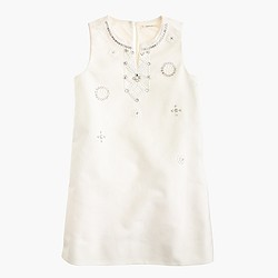 Girls' embellished dress in cotton cady