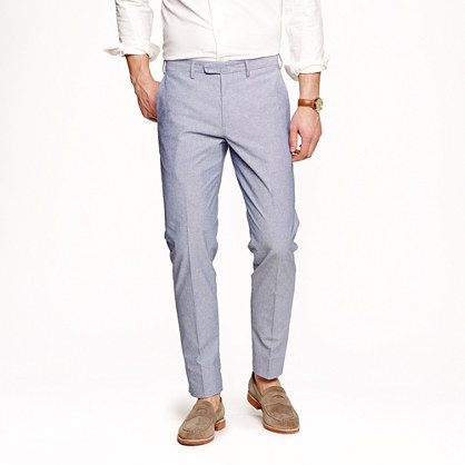 Bowery slim in chambray dot