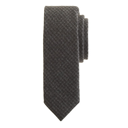 Extra-long English wool tie houndstooth
