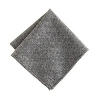 English herringbone wool pocket square