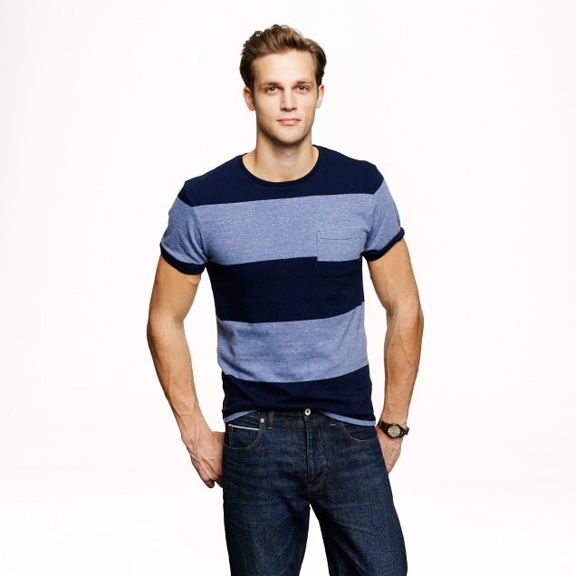 Slim flagstone T-shirt in rugby stripe