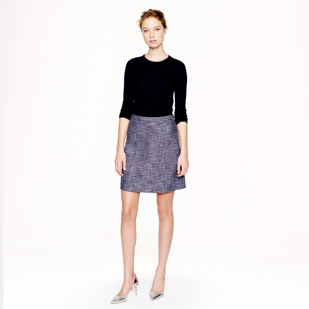 Navy tweed skirt