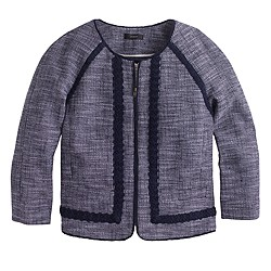 Petite navy tweed jacket