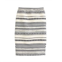 Collection long pencil skirt in geometric stripe