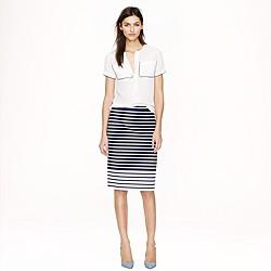 No. 2 pencil skirt in colorblock stripe