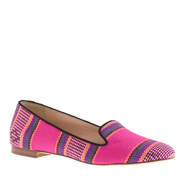 Cleo summer stripe loafers