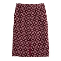Soft pencil skirt in rosewood