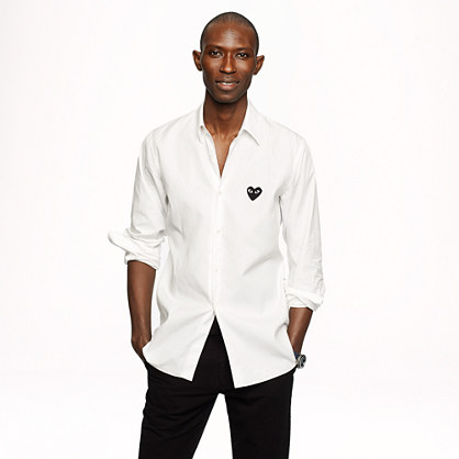 PLAY Comme des Gar�ons® white button-down shirt