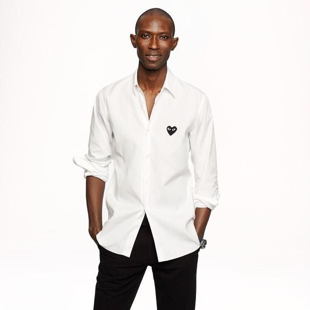 PLAY Comme des Garçons® white button-down shirt