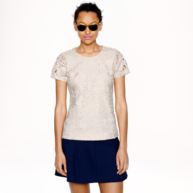 Collection guipure lace top