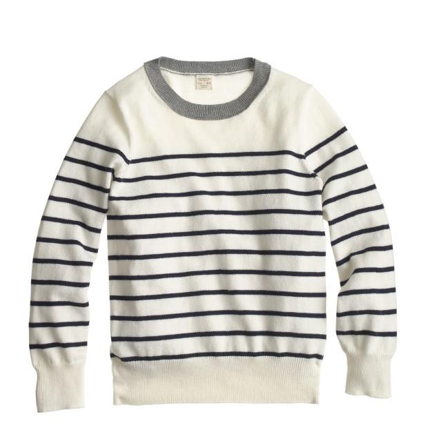 Boys' cotton-cashmere nautical-stripe sweater