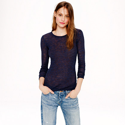 Linen rib-knit sweater