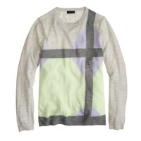Collection featherweight cashmere sweater in windowpane intarsia
