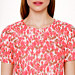 Collection textured rosebud top