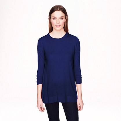 Lightweight merino wool tunic sweater