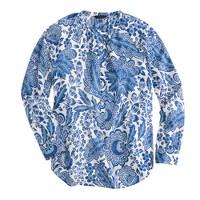 Raglan popover in blue floral