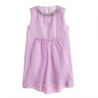 Girls' jeweled necklace dress in organdy