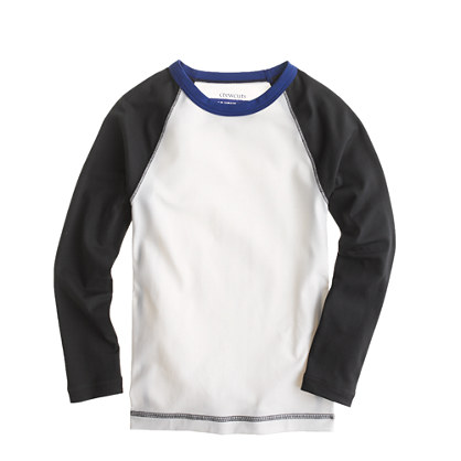 Boys' baseball-sleeve rash guard