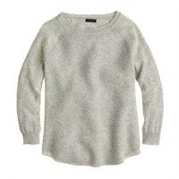 Collection cashmere basket-weave baseball T-shirt