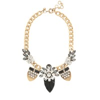 Jeweled pennant necklace