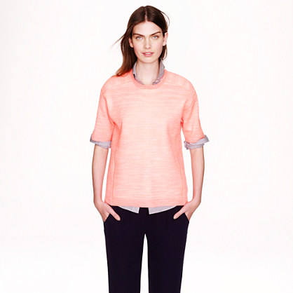 Collection bonded merino-linen T-shirt