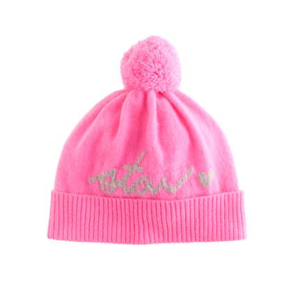 Girls' chat hat in neon azalea