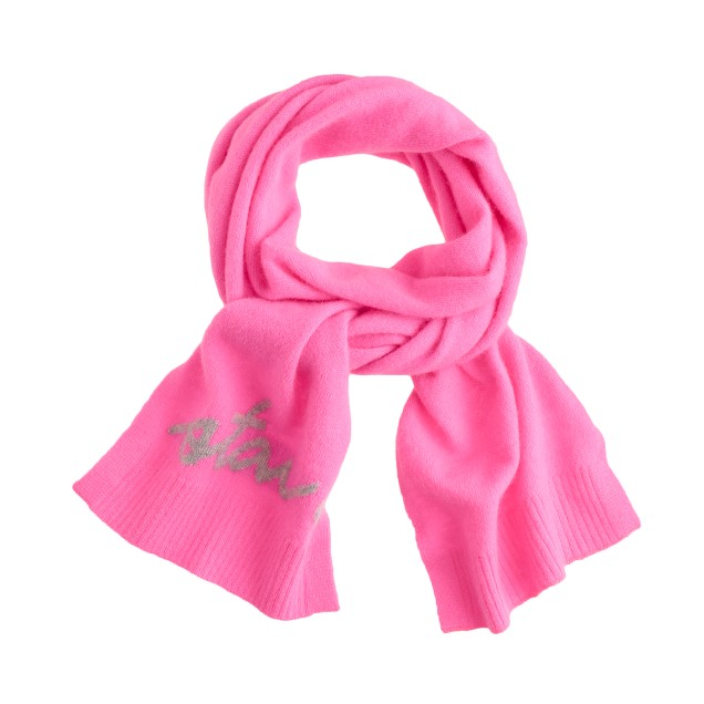 Girls' chat scarf in neon azalea