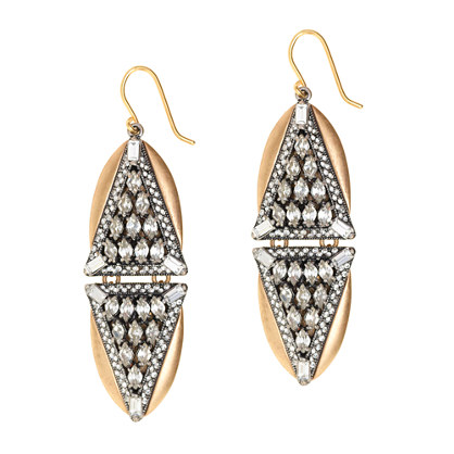 Crystal triangles earrings