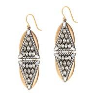 Crystal triangles earrings