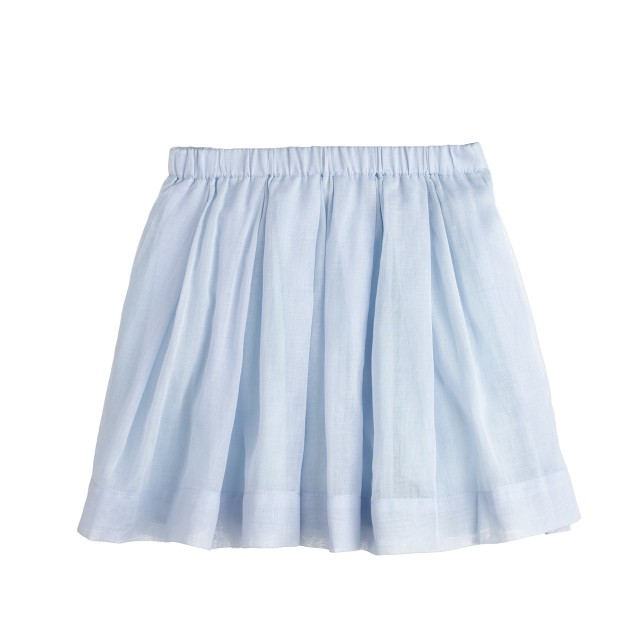 Girls' pleated organdy skirt