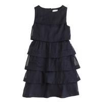 Girls' layered organdy dress