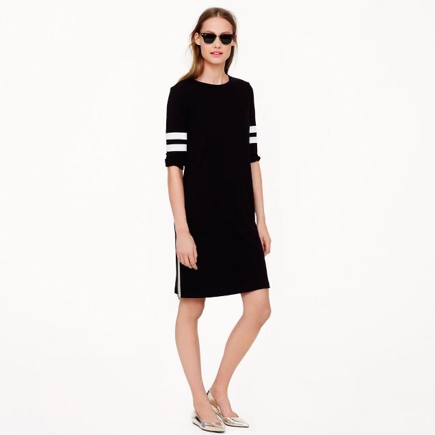 Side-zip varsity dress