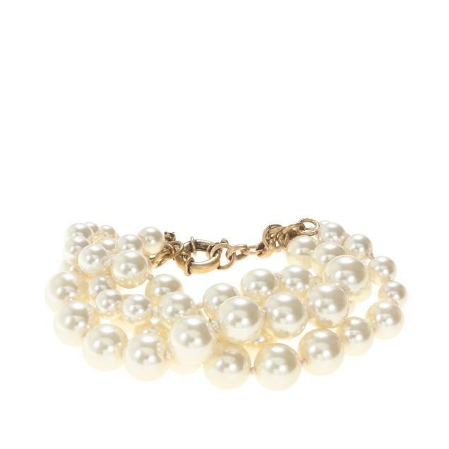 Pearl twisted hammock bracelet