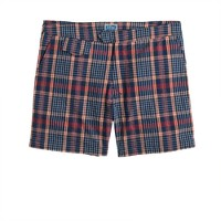 "6.5"" tab swim short in seersucker plaid"
