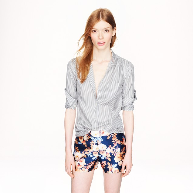 Silk thin-stripe blouse