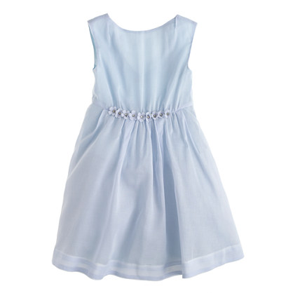 Girls' sequin flower dress in organdy