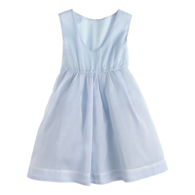 Girls' sequin flower dress in organdy