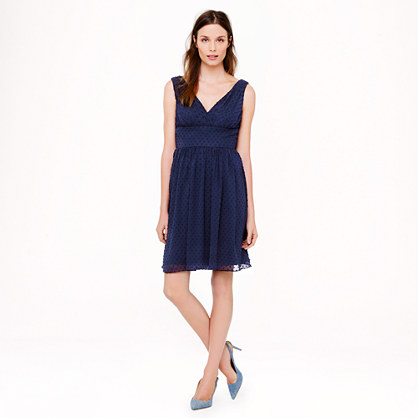 Petite Marlowe dress in swiss-dot