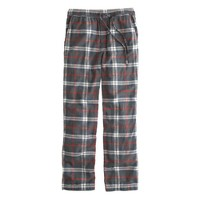 Classic flannel pajama pant in gunsmith grey plaid
