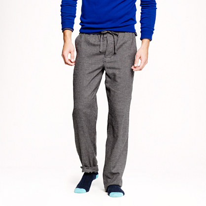Classic flannel pajama pant in asphalt microgingham