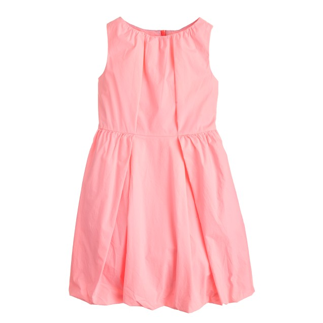 Girls' pleated bubble dress