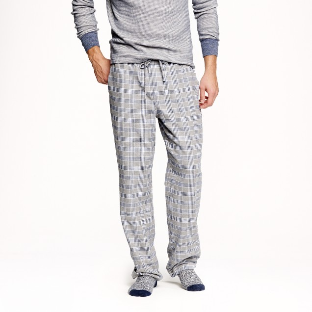 Flannel pajama pant in classic navy plaid