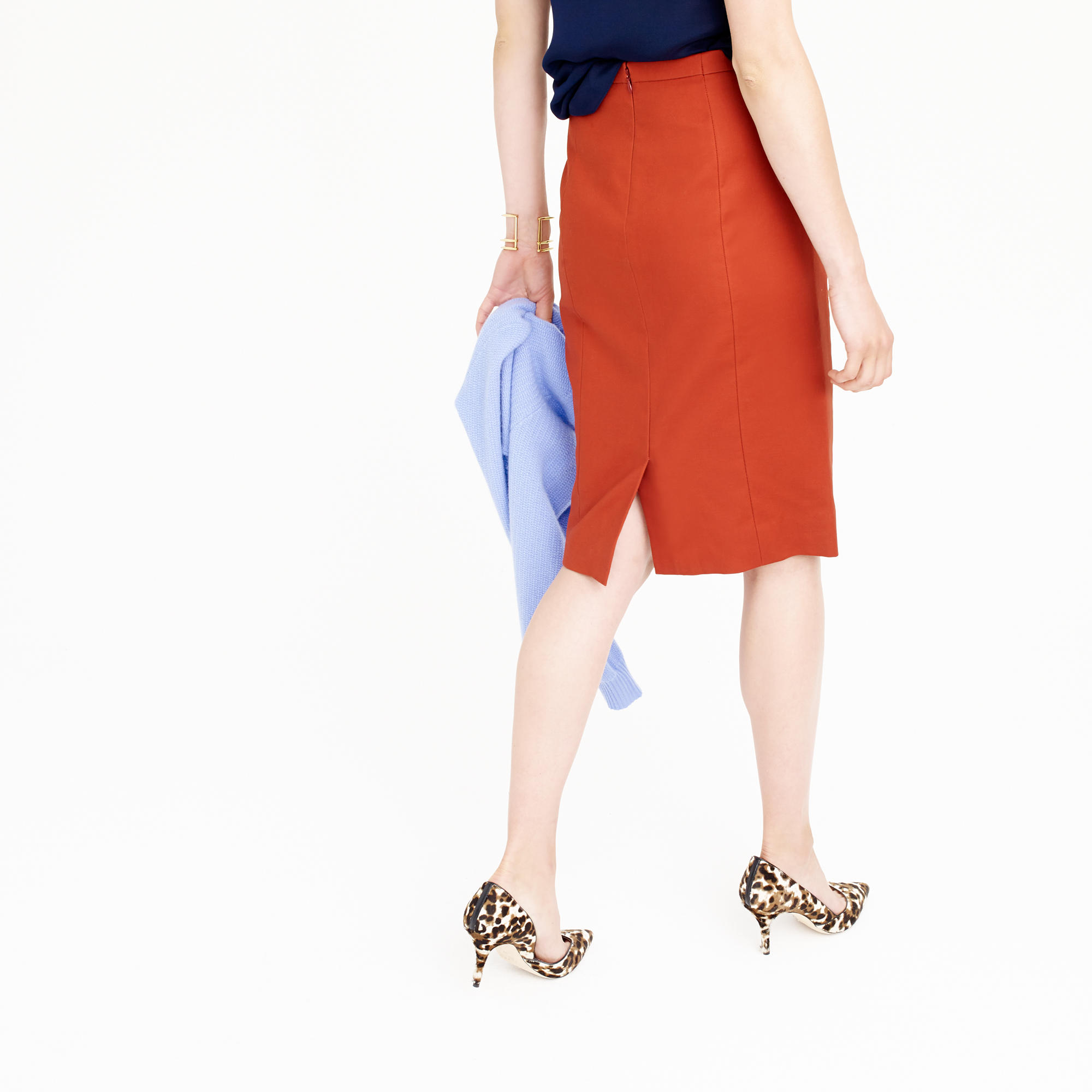 Petite No. 2 pencil skirt in cotton twill : Women pencil | J.Crew