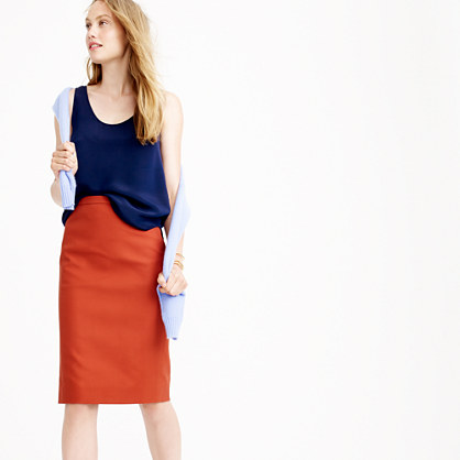 No. 2 pencil skirt in cotton twill