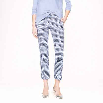 Campbell capri in abstract wave print