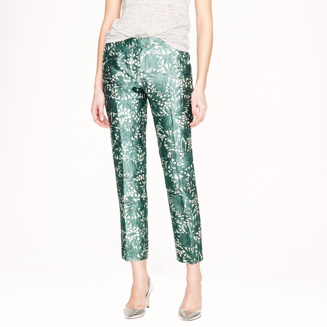 Collection cropped pant in photo lace