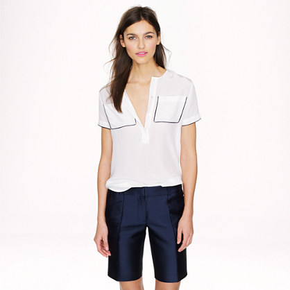 Collection silk shantung bermuda short