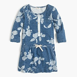Girls' faded floral pocket dress