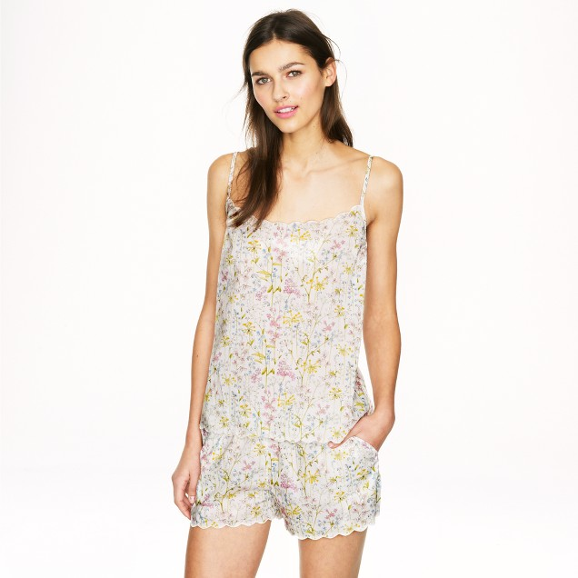 Scalloped pajama short set in Liberty Theodora floral