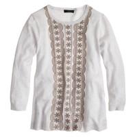 Embroidered merino wool sweater